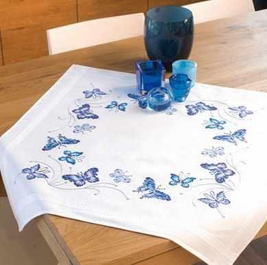 """PN-0145088 Скатерть """"Синие бабочки"""""""