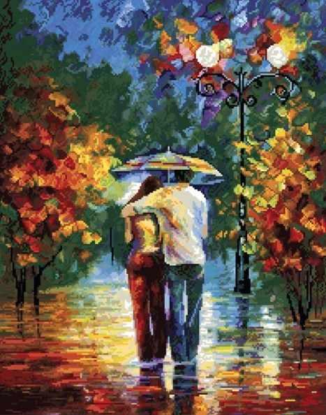 110-ST Осенний вечер - мозаичная картина (Белоснежка)