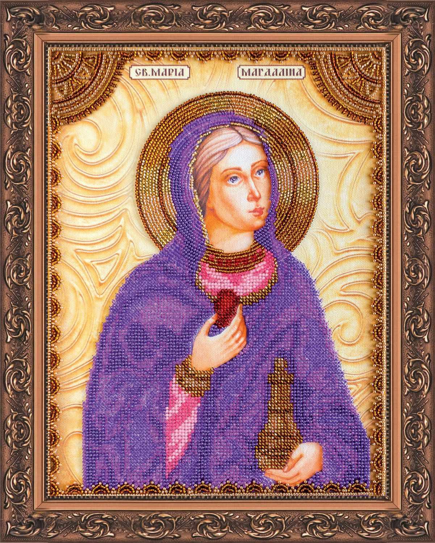 """АА-014 Набор для вышивания бисером икона """"Св. Мария"""""""