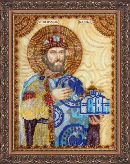 """АА-106 Набор для вышивания бисером икона """"Св.Ярослав"""""""