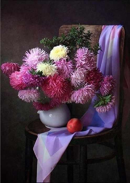 Ag4627 - Натюрморт с цветами - мозаика