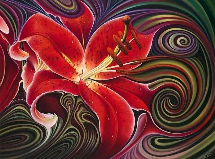 Ag4629 - Волшебная лилия - мозаика