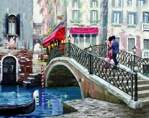 Ag4664 - Свидание в Венеции - мозаика