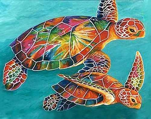 Ag4665 - Морские черепахи - мозаика
