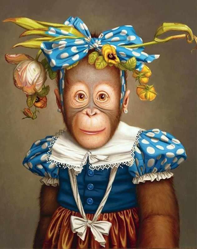 Ag493 - Веселая обезьяна - мозаика