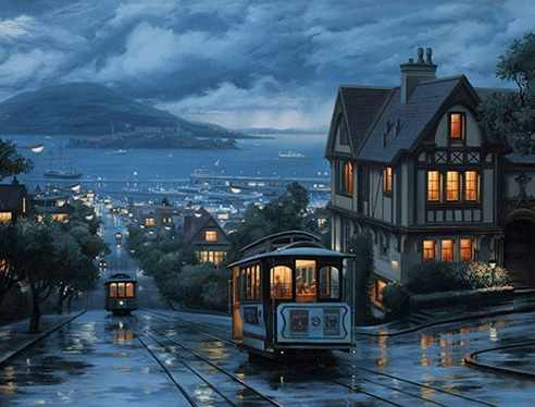Ag610 - Ночной трамвай - мозаика