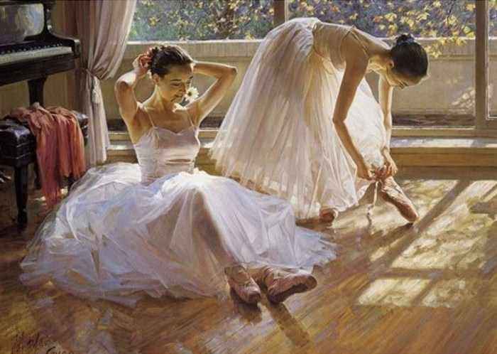 Ag802 - Две балерины - мозаика