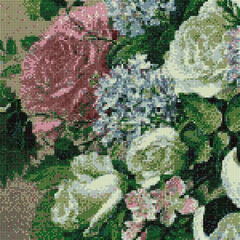 АК-706 Триптих Букет мая - роза - канва (Золотой Восход)
