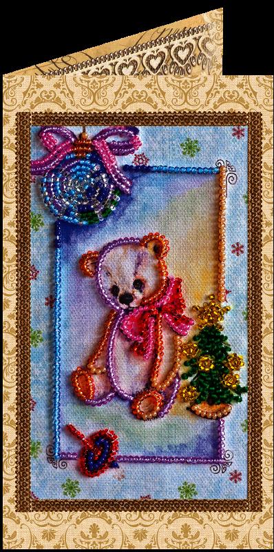 """АО-103 """"Мишка Тедди-3"""" набор-открытка"""