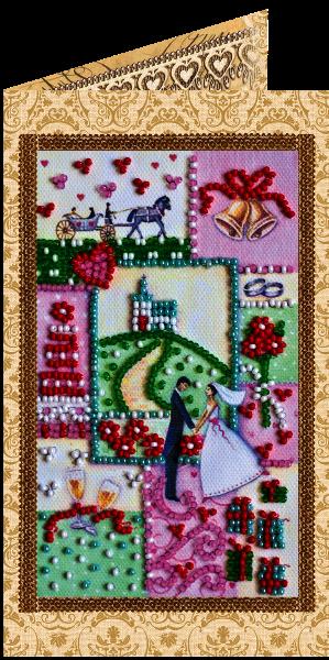 """АО-114 """"С днем бракосочетания-6"""" набор -открытка"""
