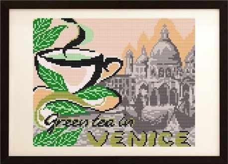 VKA4402 На зеленый чай в Венецию - схема (Art Solo)