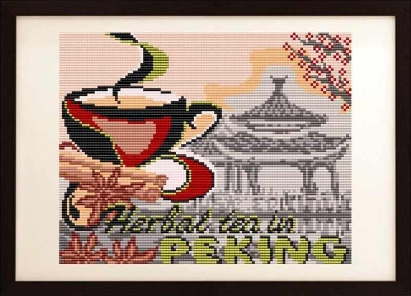 VKA4406 На травяной чай в Пекин - схема (Art Solo)