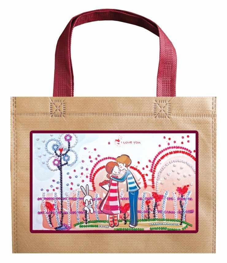 """АСА-001 Набор-сумка """"Влюблённые и зайка"""""""