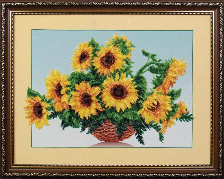 Б-006 Солнечные цветы -  Магия канвы