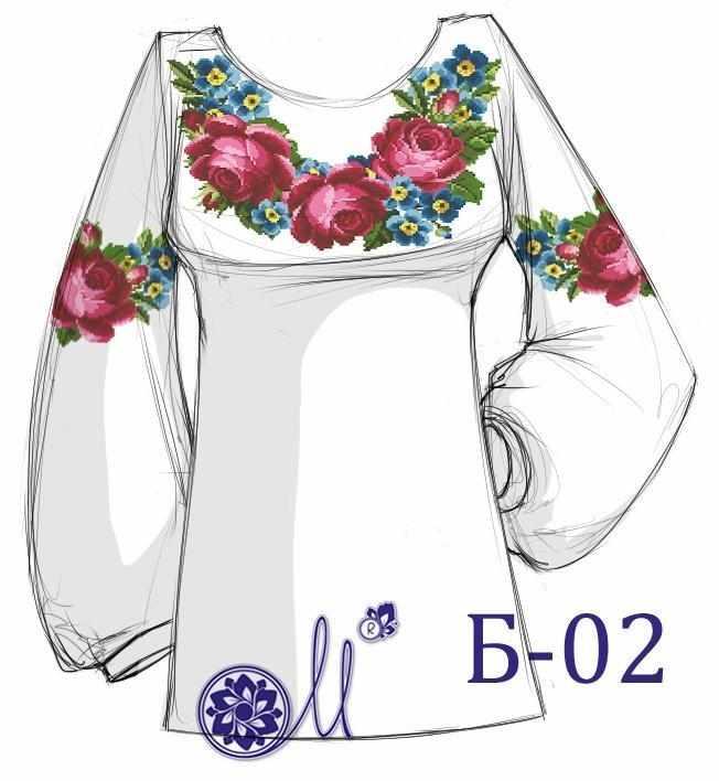 Б-02 Заготовка рубашки домотканая (Мережка)