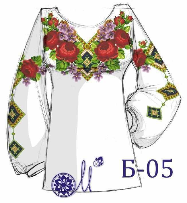 Б-05 Заготовка рубашки домоттканое (Мережка)