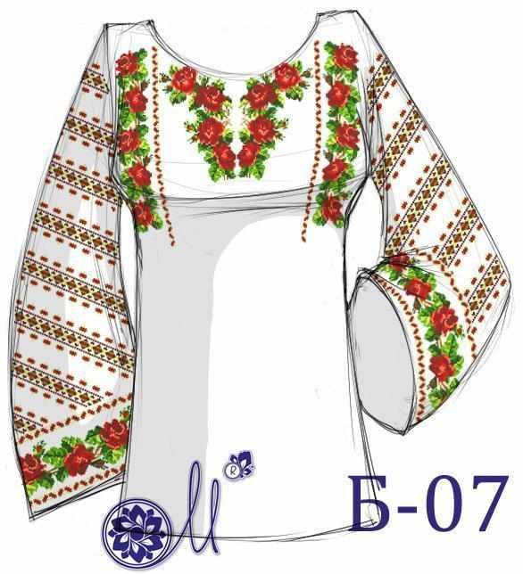 Б-07 Заготовка рубашки домоттканое (Мережка)