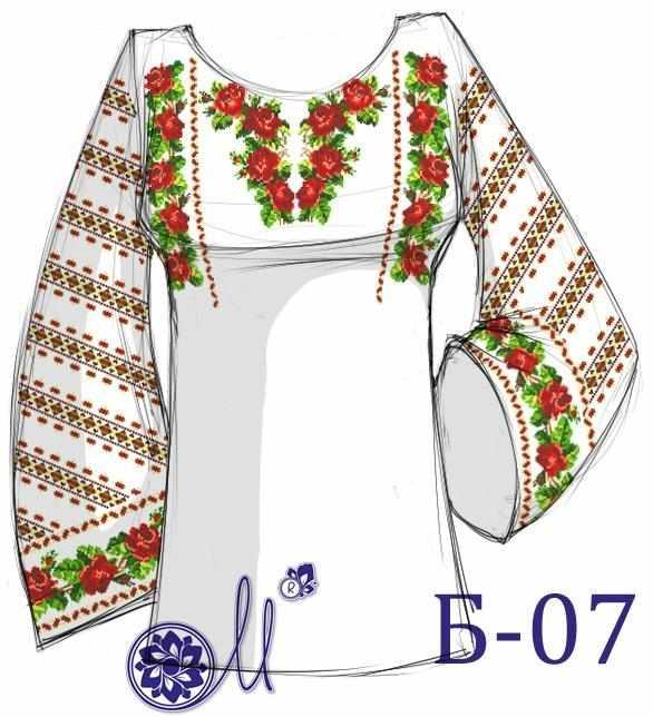 Б-07 Заготовка рубашки (Мережка)