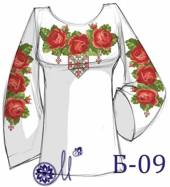 Б-09 Заготовка рубашки (Мережка)
