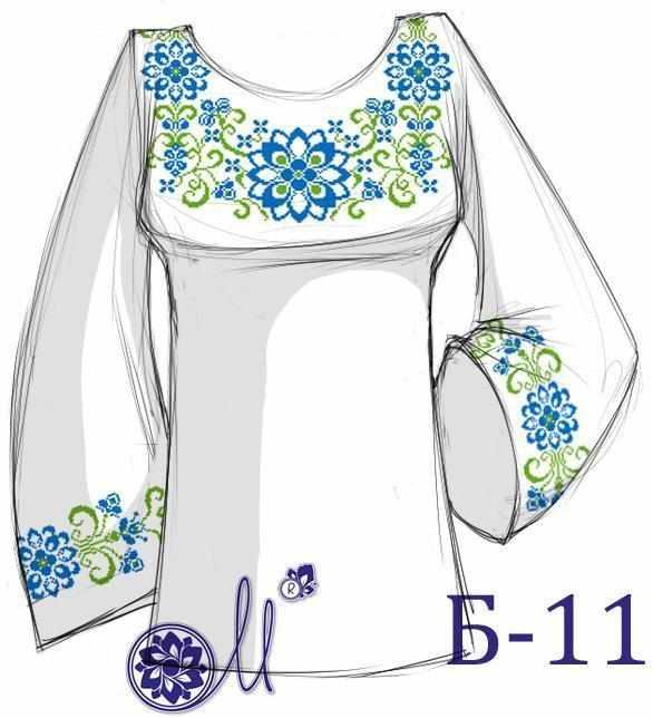 Б-11 Заготовка рубашки серая (Мережка)