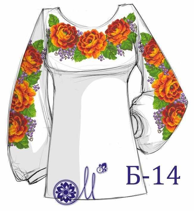 Б-14 Заготовка рубашки (Мережка)