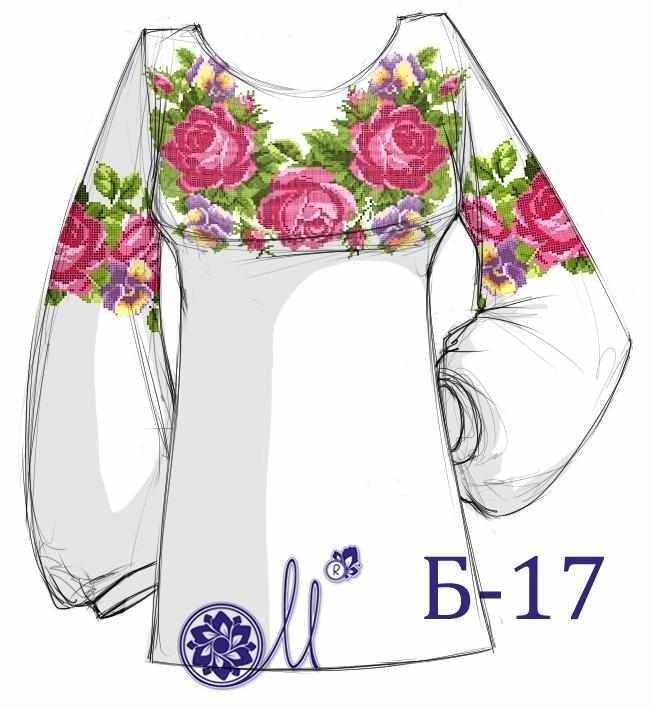 Б-17 Заготовка рубашки (Мережка)
