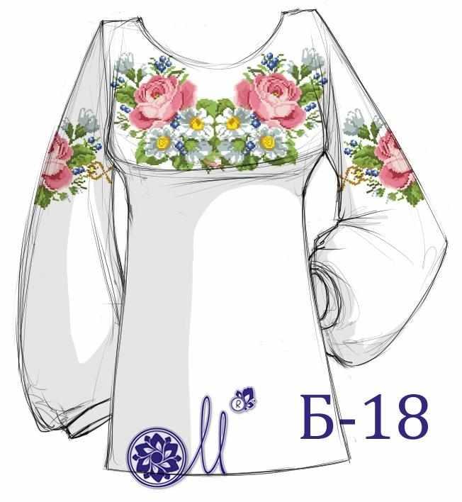 Б-18 Заготовка рубашки (Мережка)