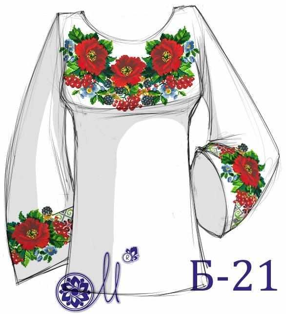 Б-21 Заготовка рубашки (Мережка)