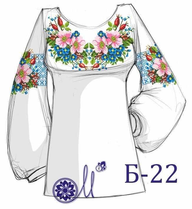 Б-22 Заготовка рубашки лён (Мережка)