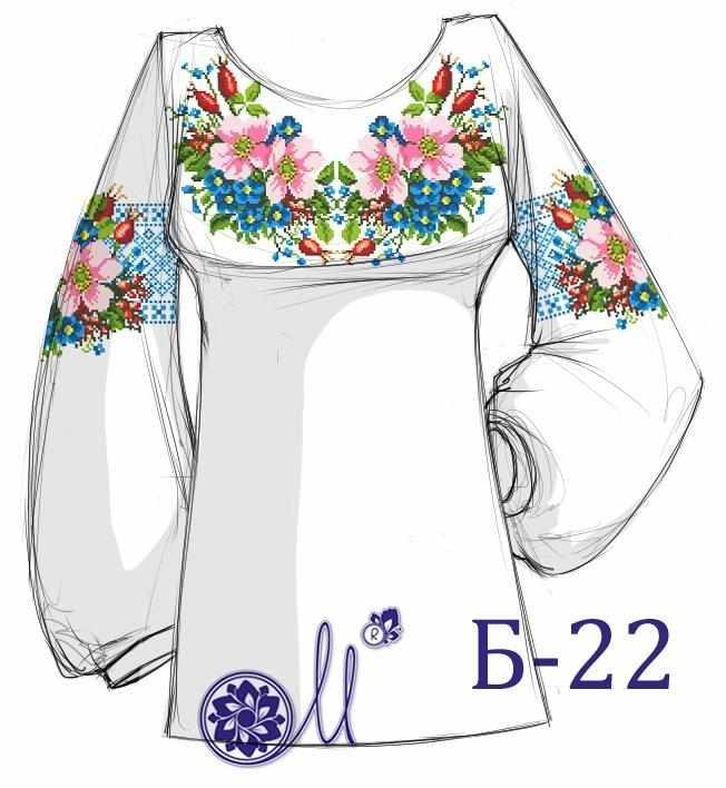 Б-22 Заготовка рубашки (Мережка)