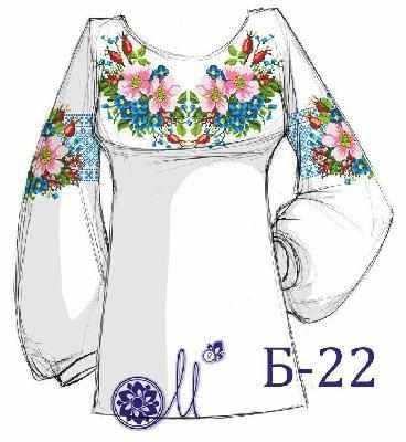 Б-22 Заготовка рубашки серая (Мережка)