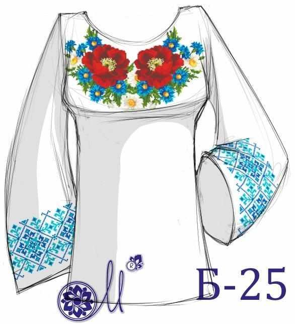 Б-25 Заготовка рубашки (Мережка)