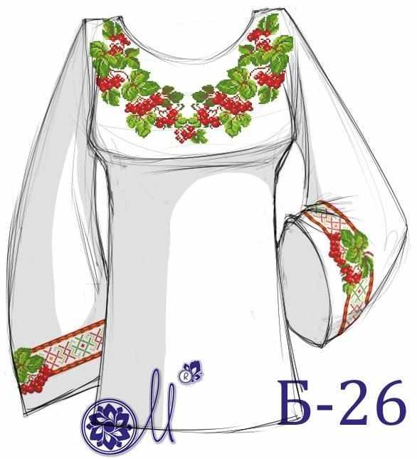 Б-26 Заготовка рубашки (Мережка)