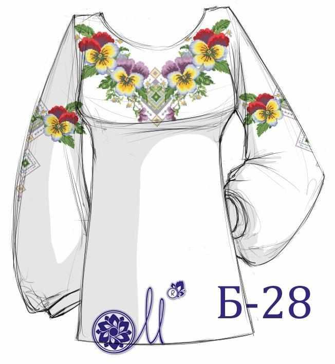 Б-28 Заготовка рубашки (Мережка)