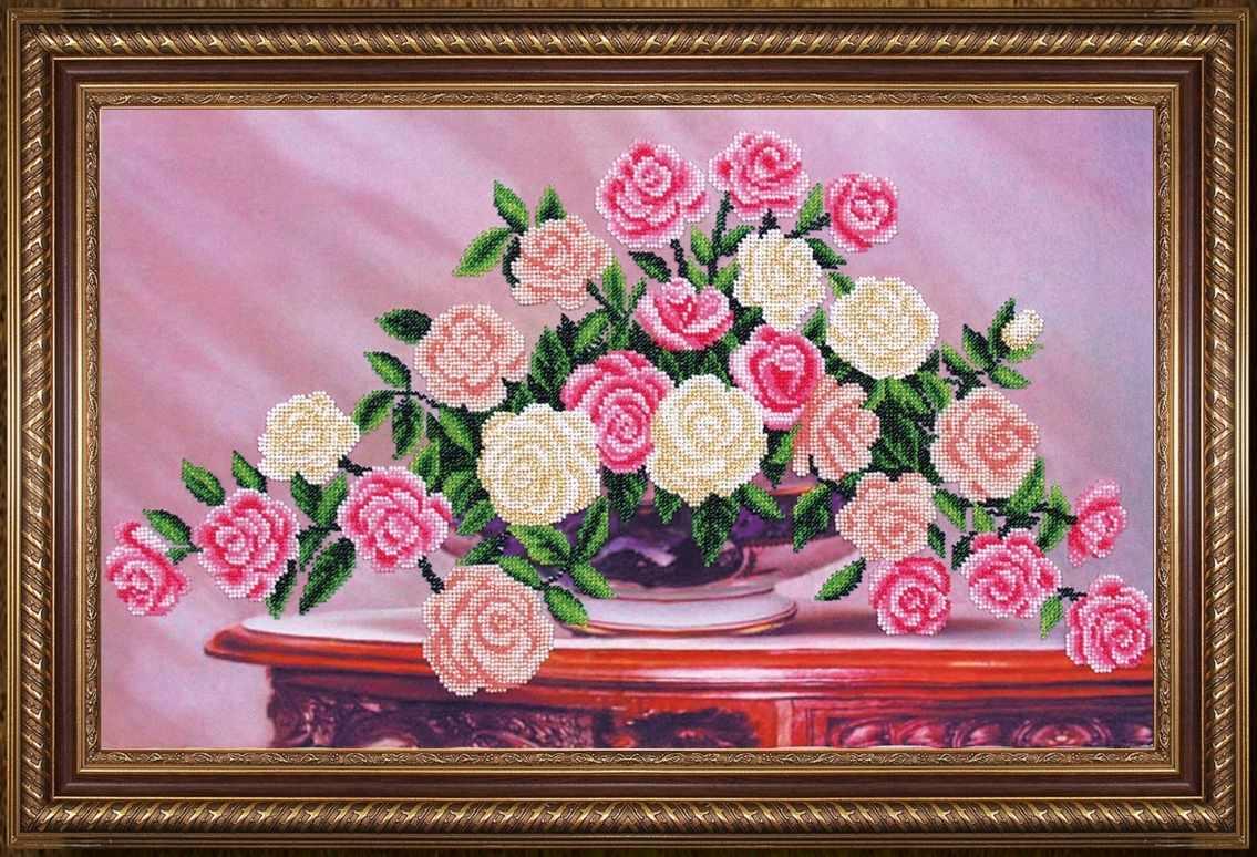 Б-296 Садовые розы - Магия канвы