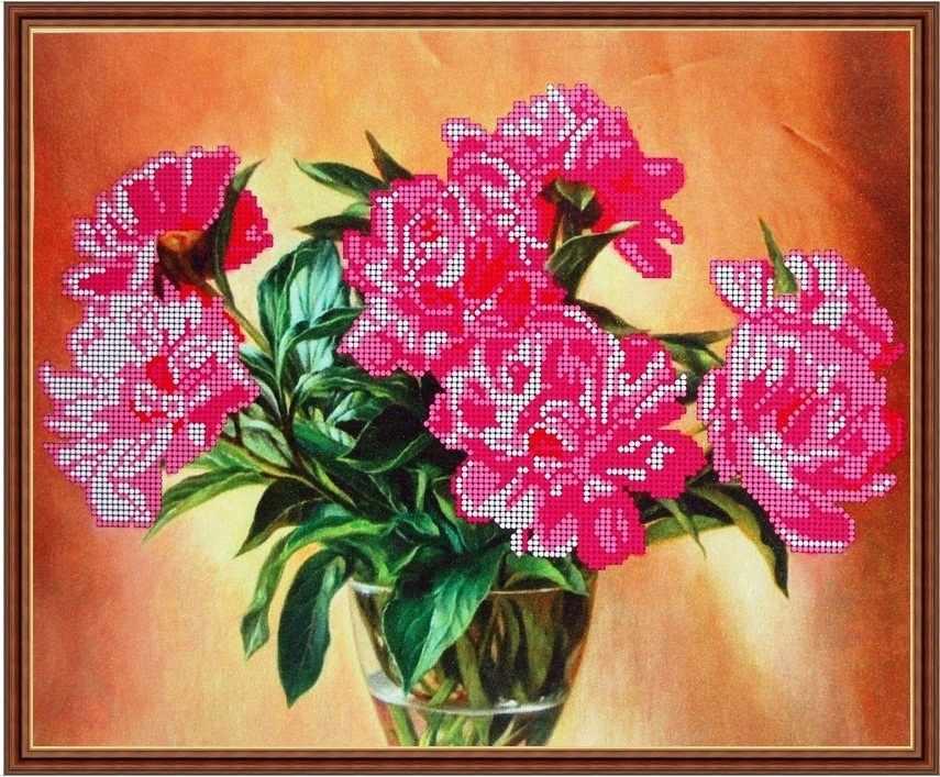 Б-3025 - Розовые пионы - схема (Алёшкина любовь)