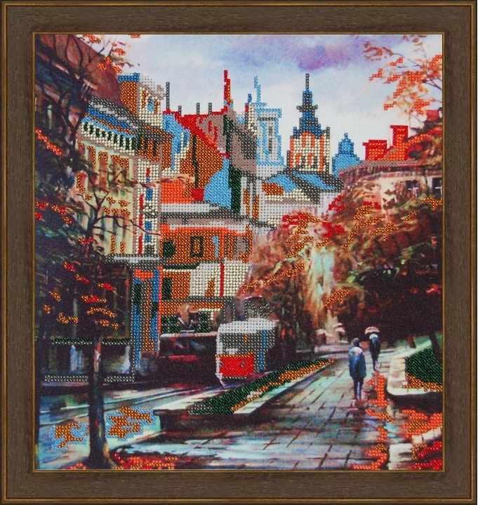 Б-3035 - Осенний город - схема (Алёшкина любовь)