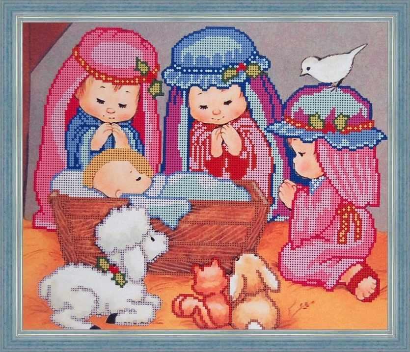 Б-3056 - Рождение Иисуса - схема (Алёшкина любовь)