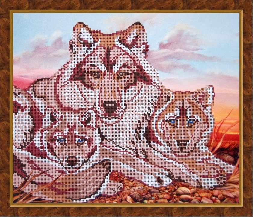 Б-3070 - Голубоглазые волчата - схема (Алёшкина любовь)