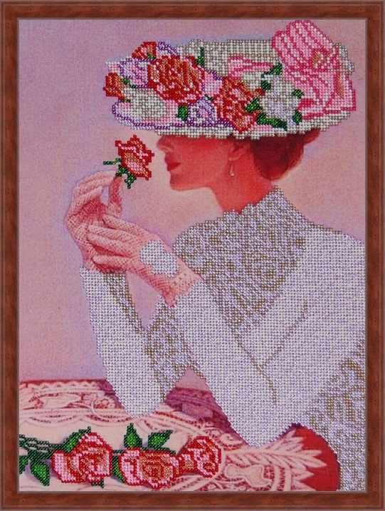Б-3087 - Дама в шляпе - схема (Алёшкина любовь)