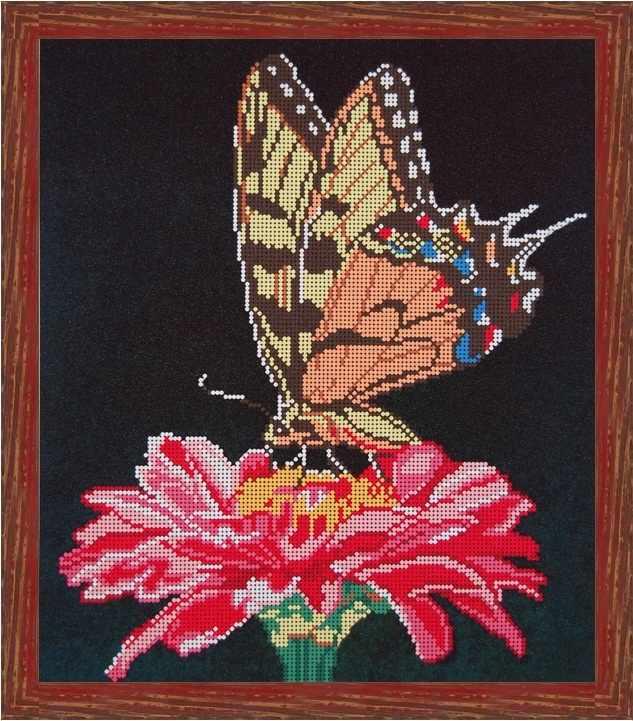 Б-3106 - Бабочка на цветке - схема (Алёшкина любовь)