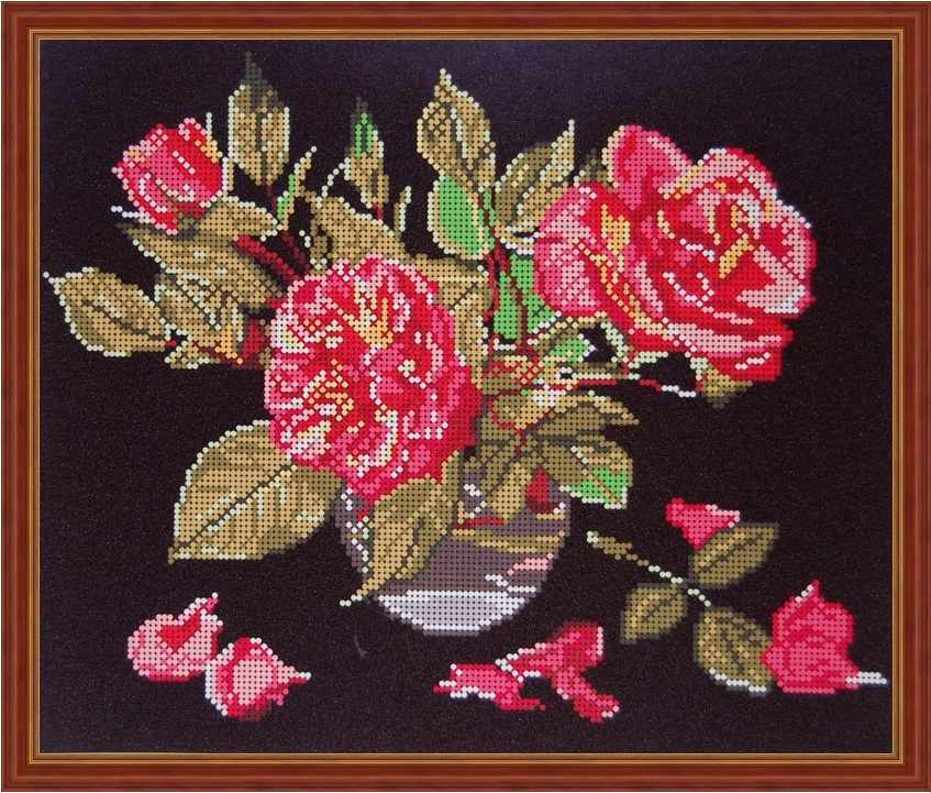 Б-3137 - Розы на черном - схема (Алёшкина любовь)