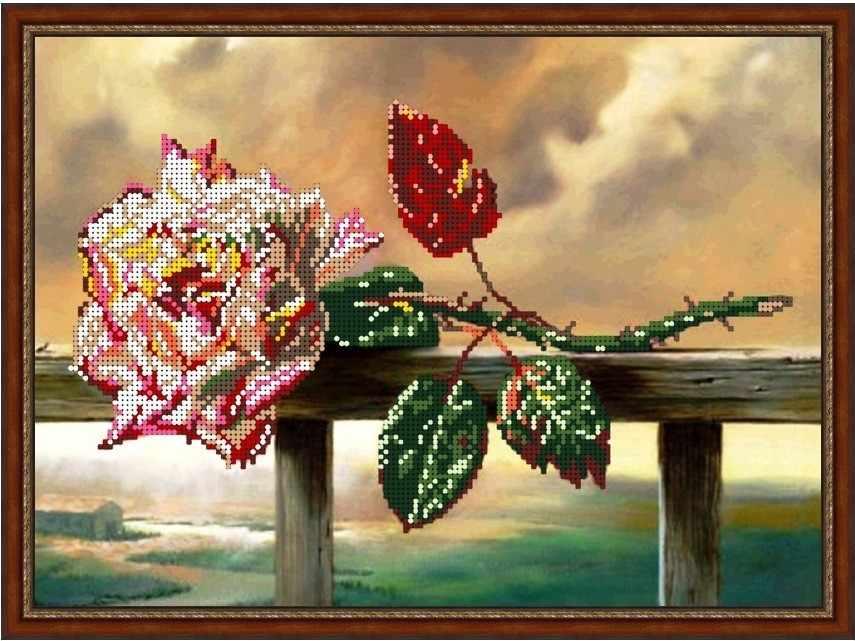 Б-3189 - Забытая роза - схема (Алёшкина любовь)