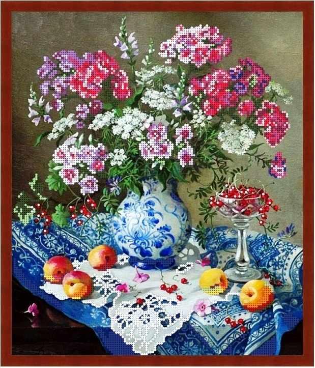 Б-3212 - Летние цветы - схема (Алёшкина любовь)