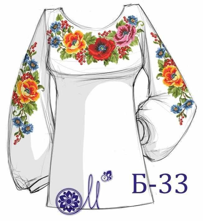 Б-33 Заготовка рубашки (Мережка)