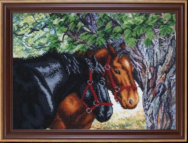 Б-335 Пара лошадей - Магия канвы