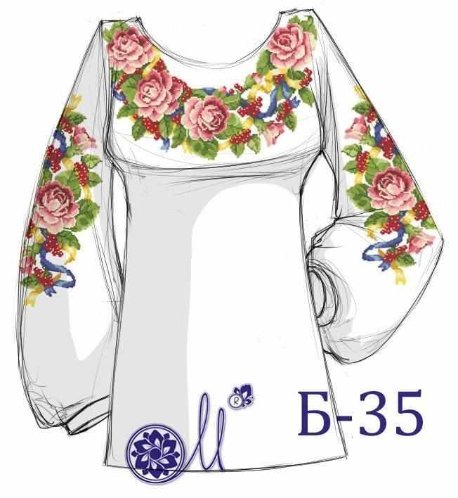 Б-35 Заготовка рубашки лён (Мережка)