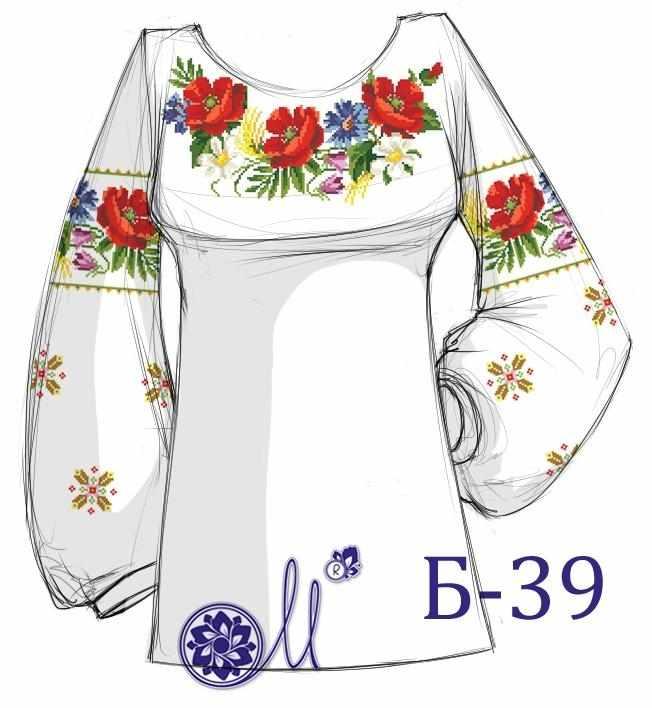 Б-39 Заготовка рубашки (Мережка)