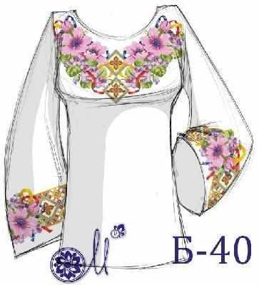 Б-40 Заготовка рубашки серая (Мережка)