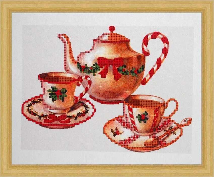 Б-4014 - Чайный сервиз - схема (Алёшкина любовь)